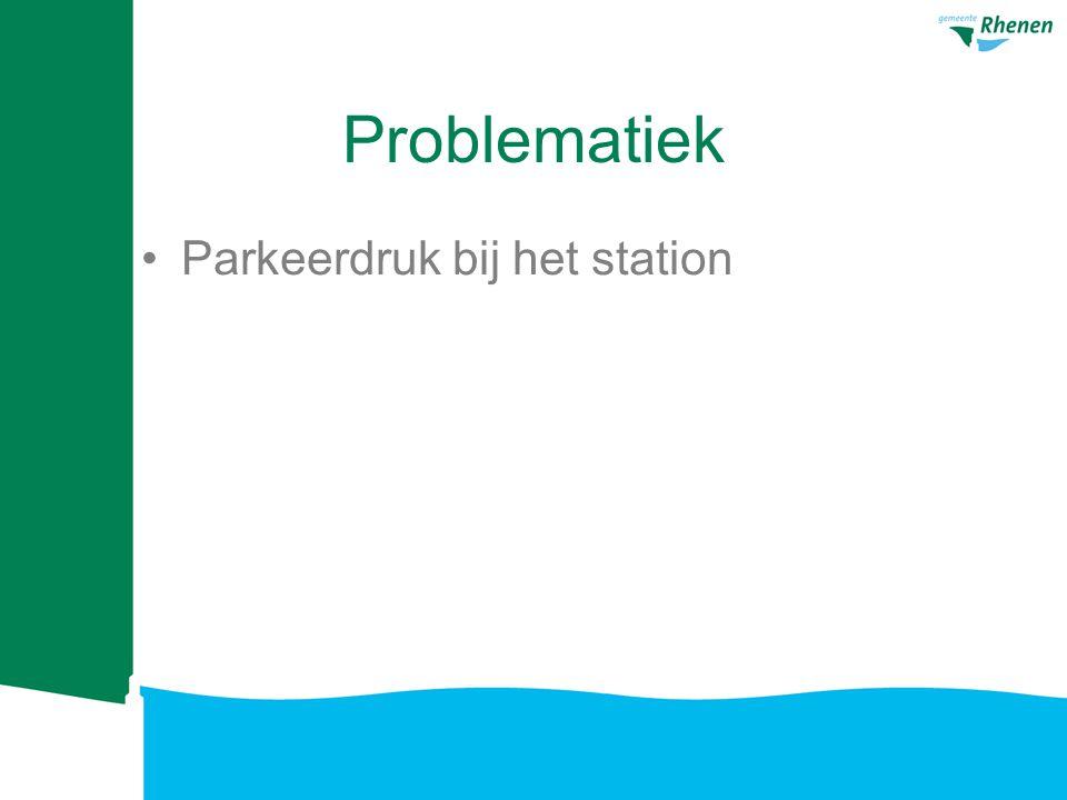 Problematiek Parkeerdruk bij het station [bronnen: Provincie NS